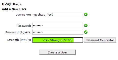 Hướng dẩn tạo database trong mysql