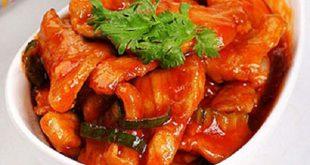 Cách nấu món thịt sốt chua ngọt